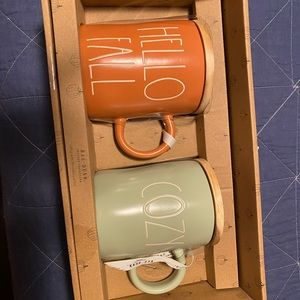 Rae Dunn set of 2 mugs